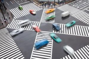 Zirka 2,4 Millionen Verkehrsunfälle registrierte die Polizei im Jahre 2014.